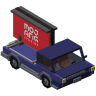 Car with banner - 3D Model - Config and resourcepack for VehiclesPlusPro